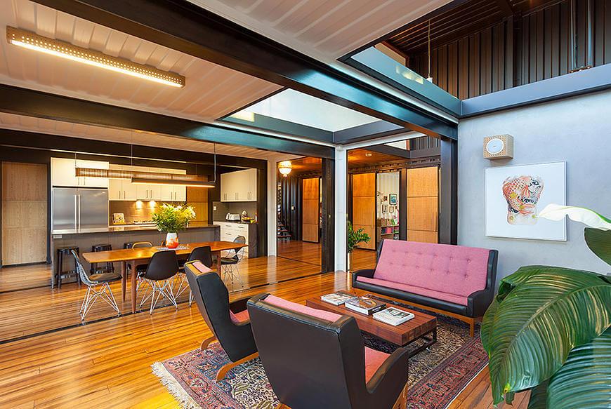 wohnen im container. Black Bedroom Furniture Sets. Home Design Ideas