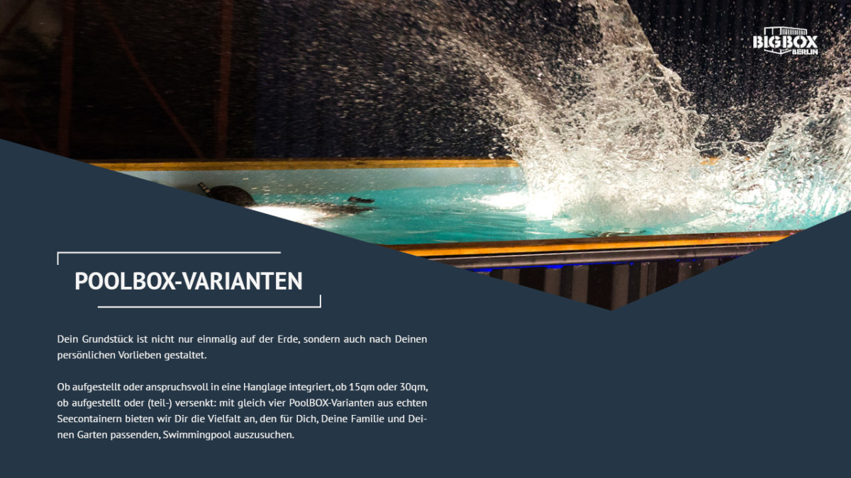 PoolBOX-Varianten